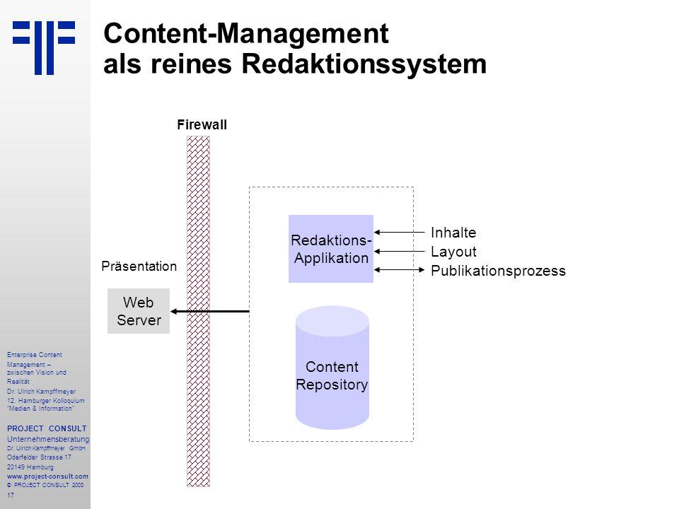 17 Enterprise Content Management – zwischen Vision und Realität Dr.