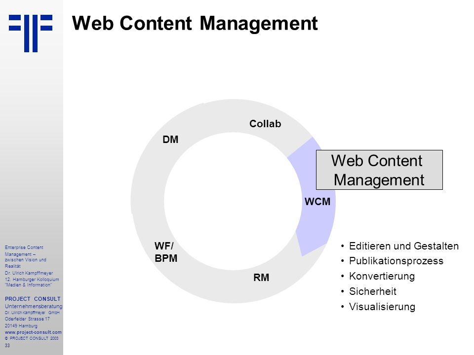 33 Enterprise Content Management – zwischen Vision und Realität Dr.