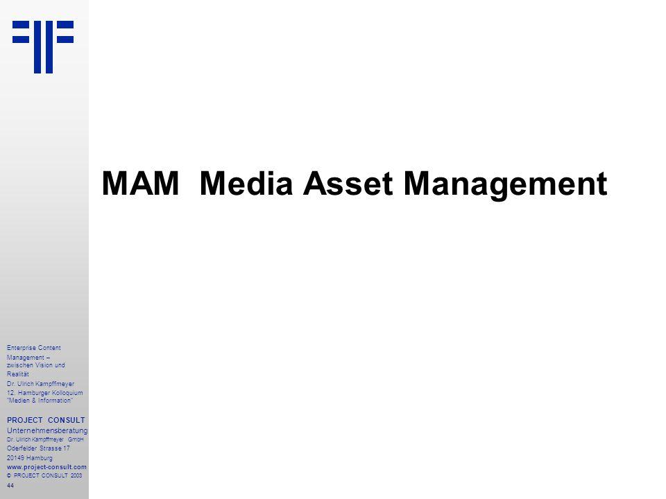 44 Enterprise Content Management – zwischen Vision und Realität Dr.