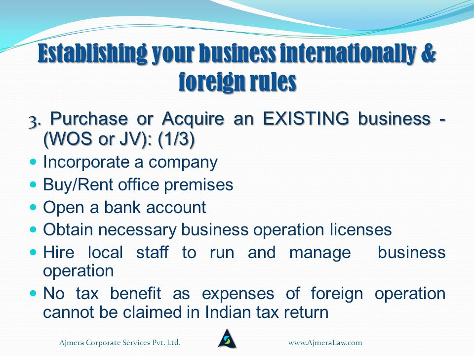 Establishing your business internationally & foreign rules 2.