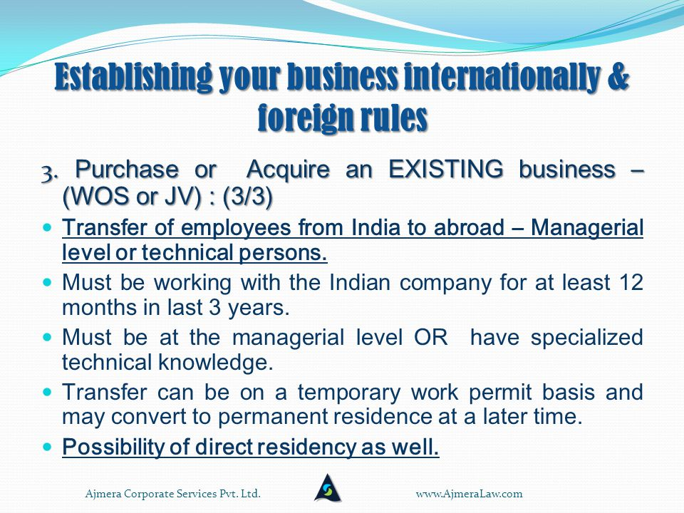 Establishing your business internationally & foreign rules 3.