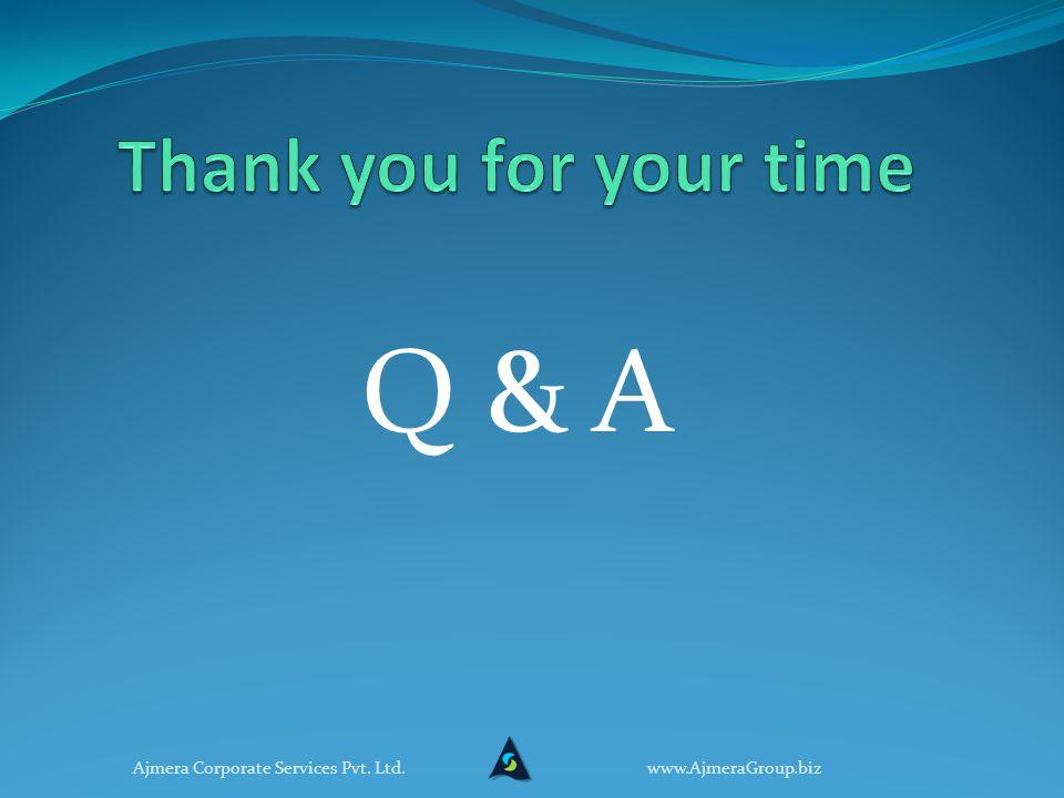 Q & A www.AjmeraGroup.bizAjmera Corporate Services Pvt. Ltd.