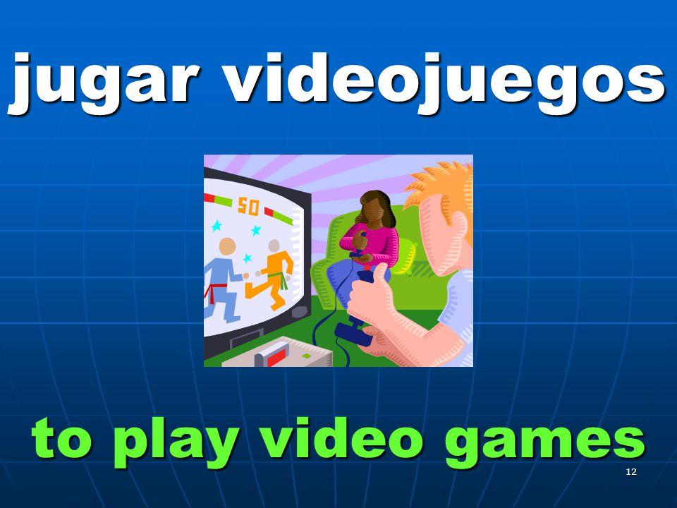 12 jugar videojuegos to play video games