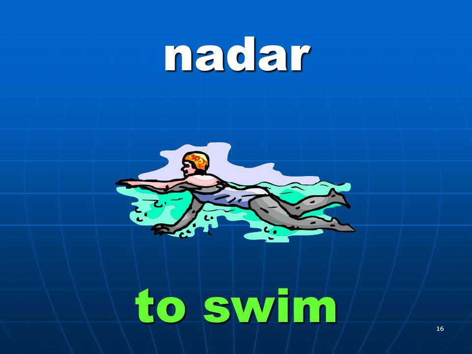 16 nadar to swim
