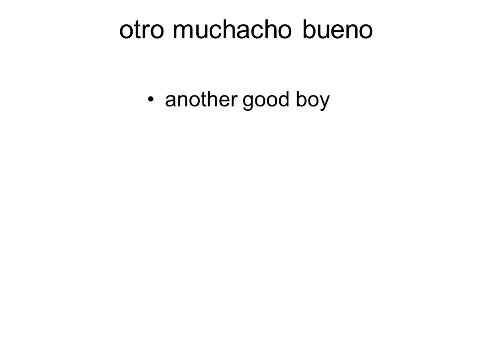 otro muchacho bueno another good boy