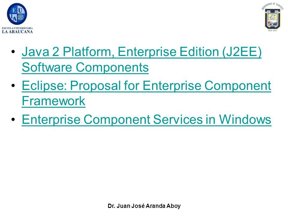 Dr. Juan José Aranda Aboy Java 2 Platform, Enterprise Edition (J2EE) Software ComponentsJava 2 Platform, Enterprise Edition (J2EE) Software Components