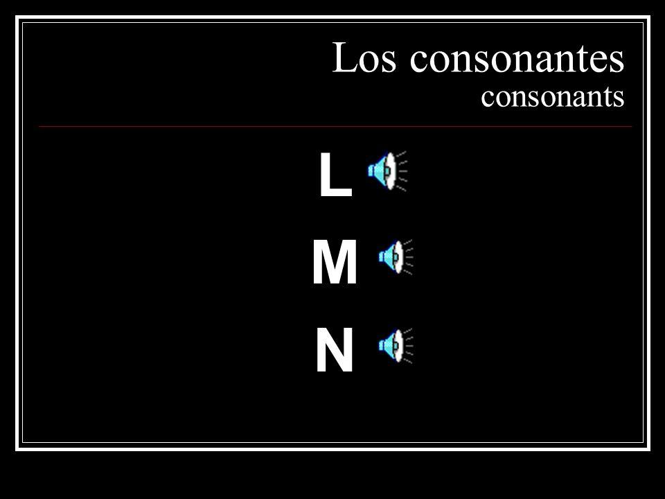 Los consonantes consonants LMNLMN