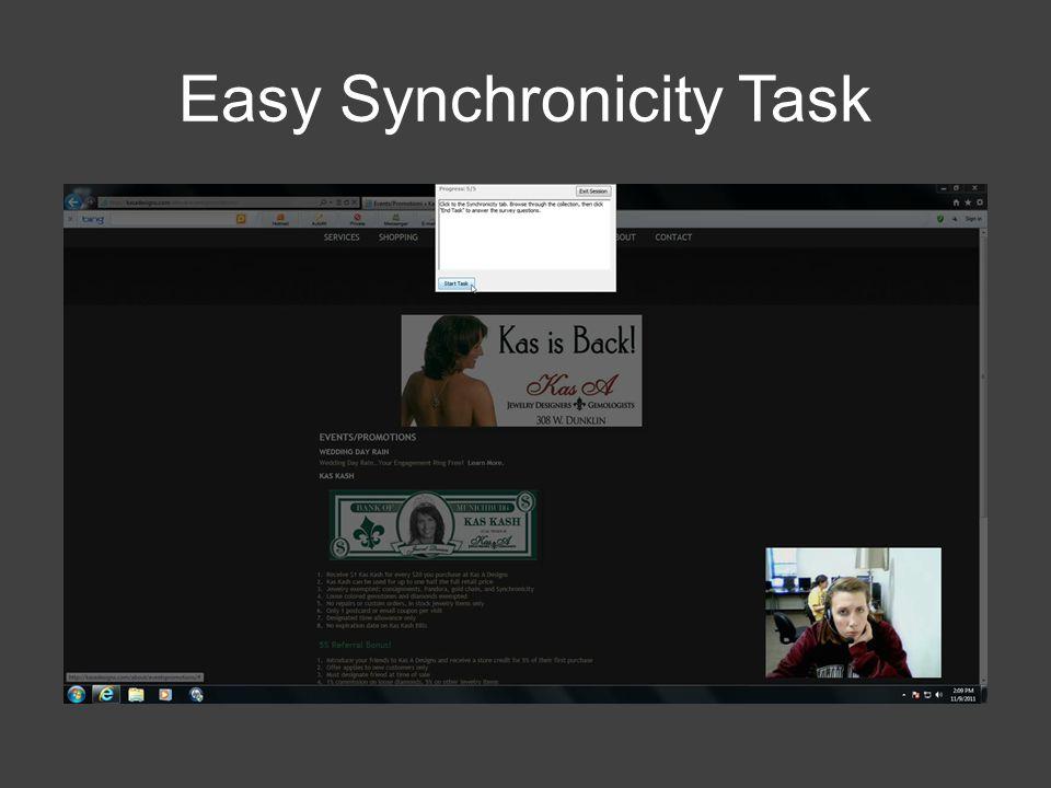 Easy Synchronicity Task