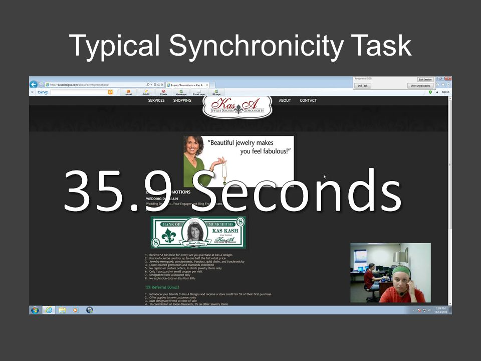 Typical Synchronicity Task