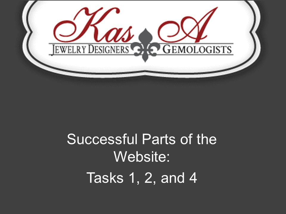 Successful Parts of the Website: Tasks 1, 2, and 4