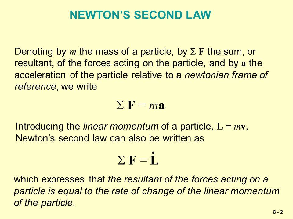 8 - 33 Apply Newton's second law.