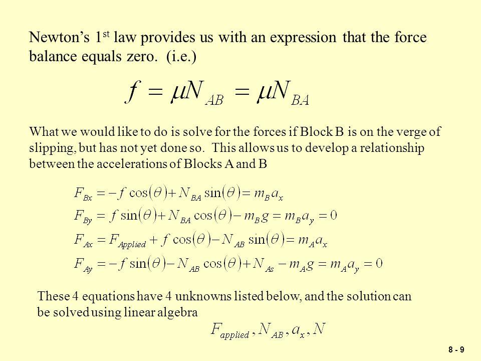 8 - 30 Problem 2 A B 12 lb 30 lb 3.