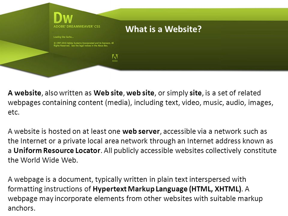 My First HTML Basic Markup http://www.w3schools.com/html/ HTML Documents = Web Pages HTML documents describe web pages HTML documents contain only HTML tags and plain text *** HTML documents are also called web pages The purpose of a web browser (like Internet Explorer or Firefox) is to read HTML documents and display them as web pages.