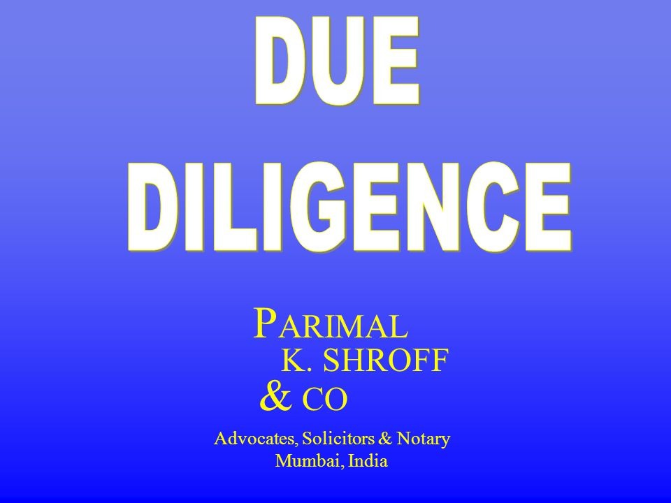 P ARIMAL K. SHROFF & CO Advocates, Solicitors & Notary Mumbai, India