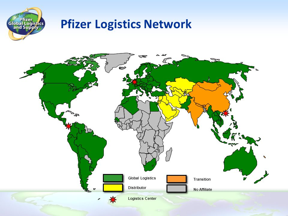 Pfizer Logistics Network Global Logistics Distributor Transition No Affiliate Logistics Center