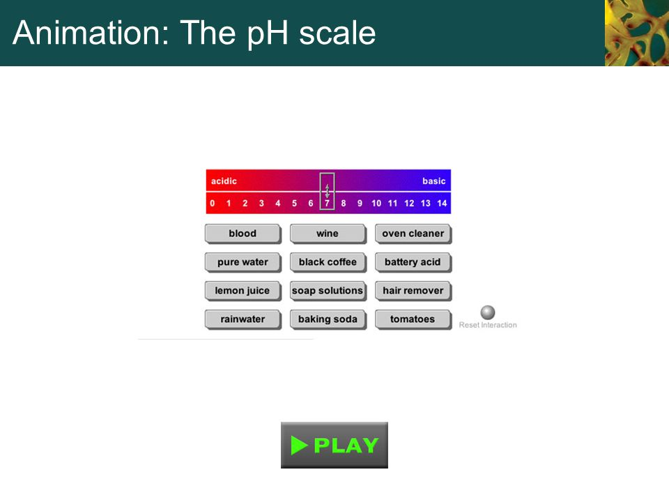 Animation: The pH scale