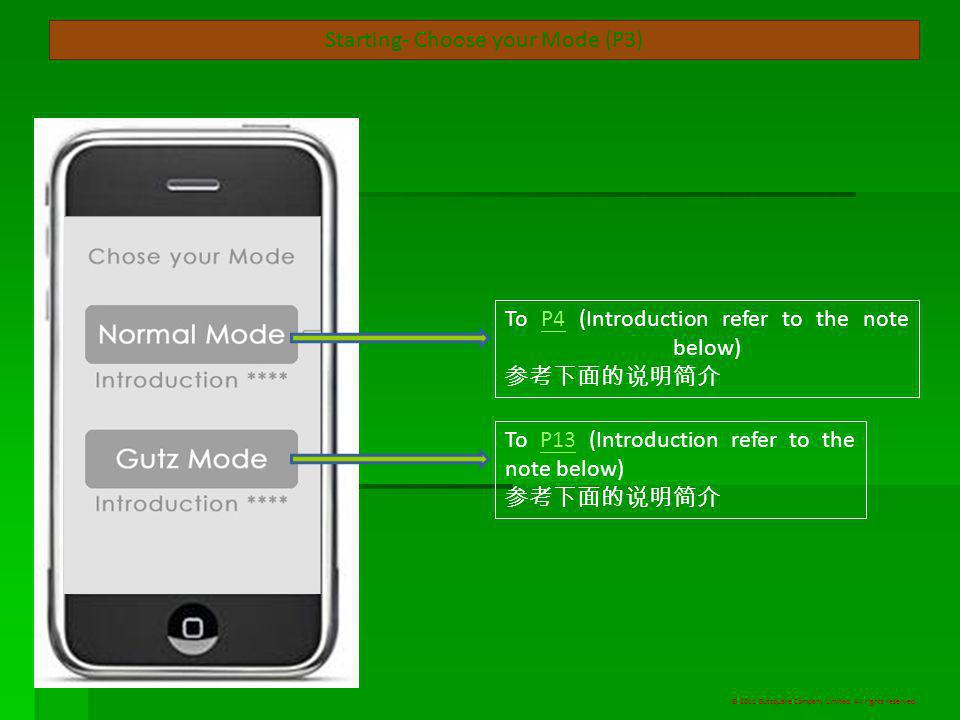 Interface- Settings (P12) Sign off ( 登出 / 註銷 ) To P2P2 Settings ( 設置 ) © 2011 Gutzquare Company Limited.
