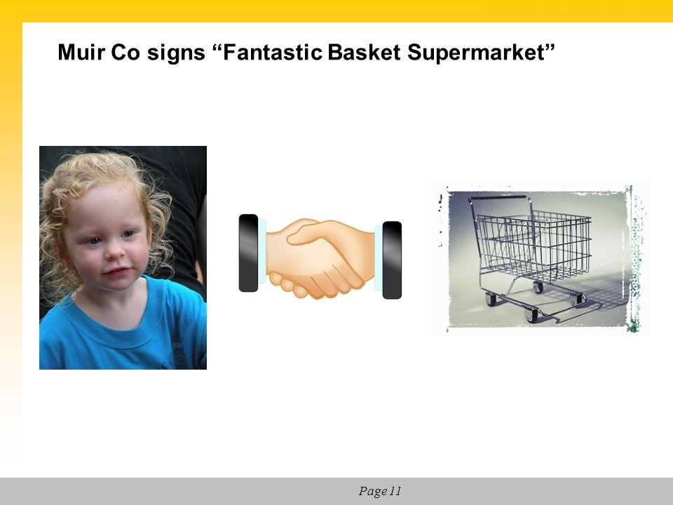 """Page 11 Muir Co signs """"Fantastic Basket Supermarket"""""""