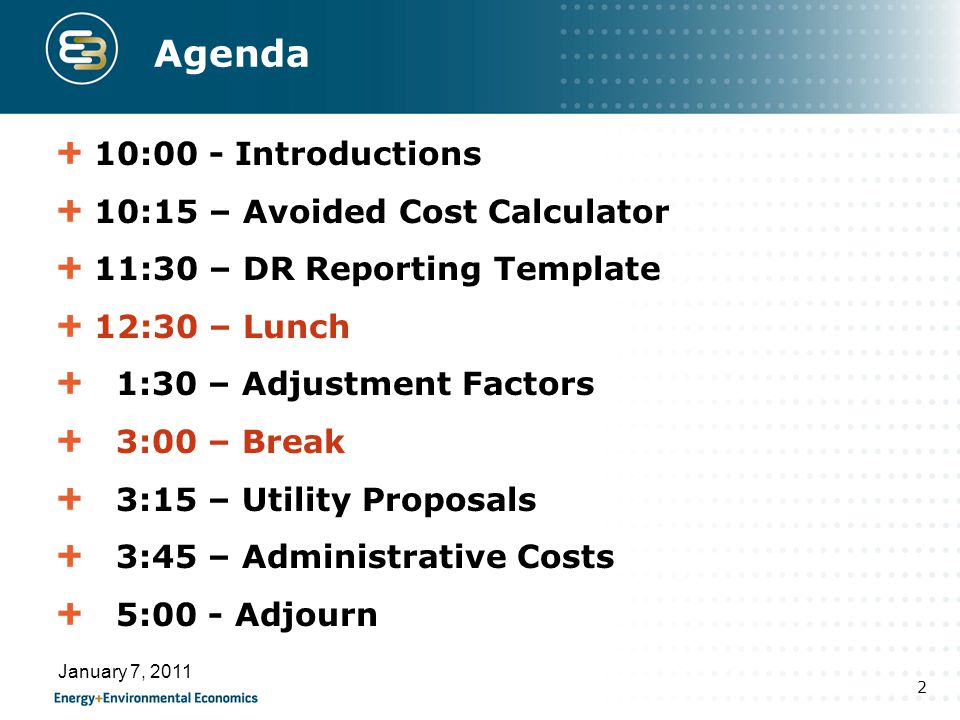 DR Process November DR Workshop Overview of Avoided Costs, DR Reporting Template Proposed Decision Comments Reply Comments Final Decision Today's January Workshop Updates since November DR Workshop based on comments 3