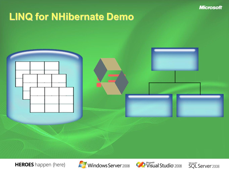 LINQ for NHibernate Demo