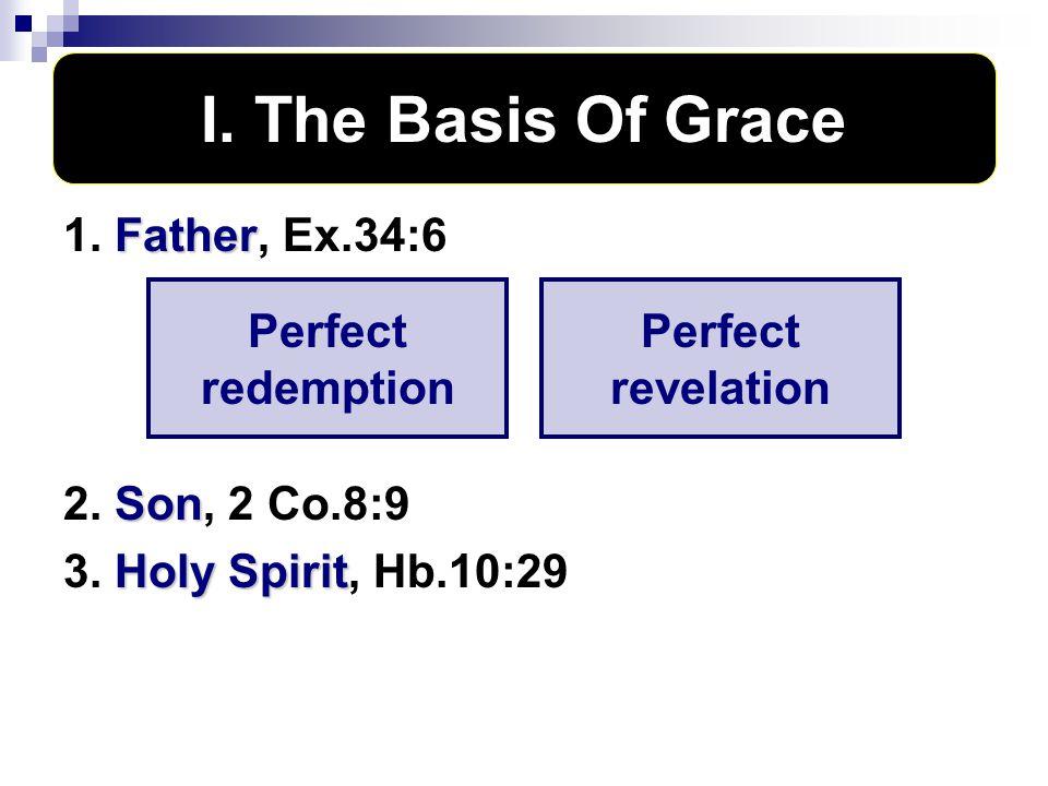I.The Basis of Grace V. The Behavior of Grace II.