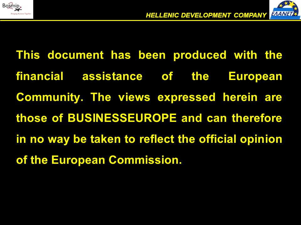  efficiency  mutual respect – cooperation – teamwork  conscious discipline THE COMPANY INTERNAL OPERATIONAL AUDIT – This department was created in order to improve the level and reliability of the services rendered, by enhancement of its executives' HELLENIC DEVELOPMENT COMPANY
