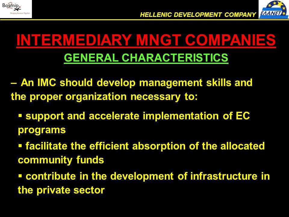  foundation  legal status  mission  organization chart  human resources THE COMPANY HELLENIC DEVELOPMENT COMPANY