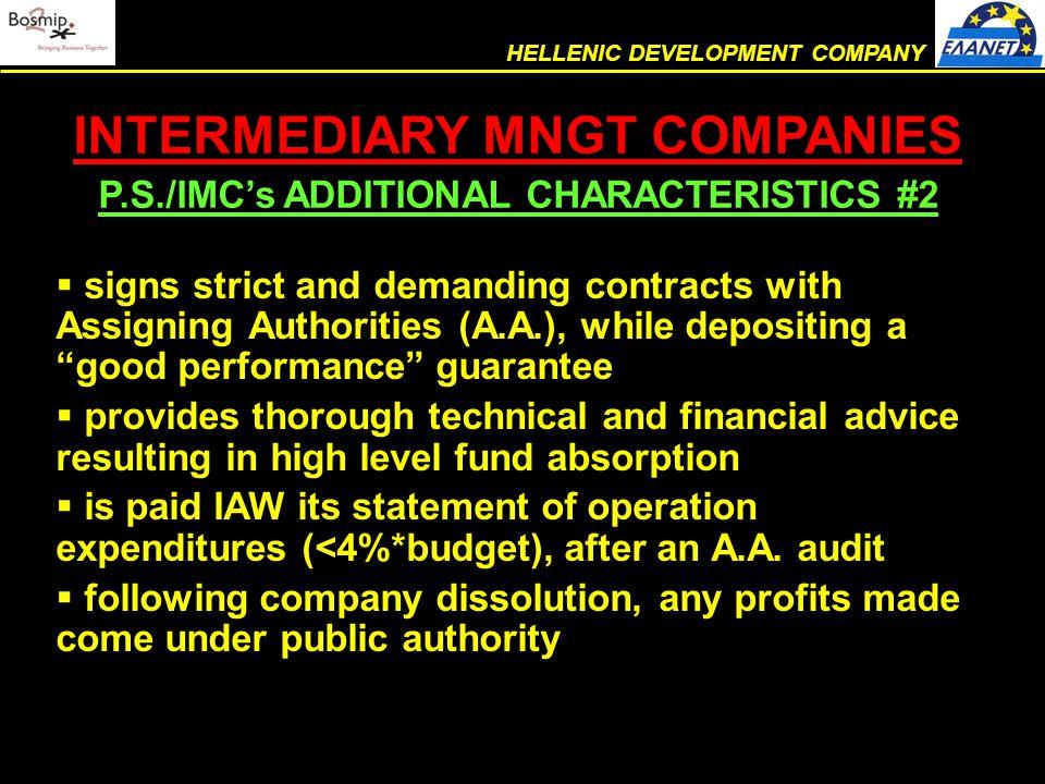  ELANET is a civil, non-profit company THE COMPANY LEGAL STATUS HELLENIC DEVELOPMENT COMPANY
