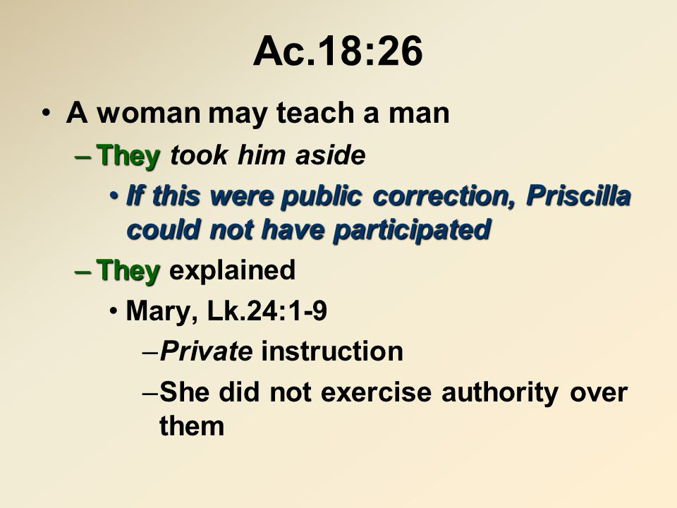 Col.3:16 –A woman may teach a man in the assembly (by singing) speak1 Co.14:34-35, a woman may not speak in the assembly