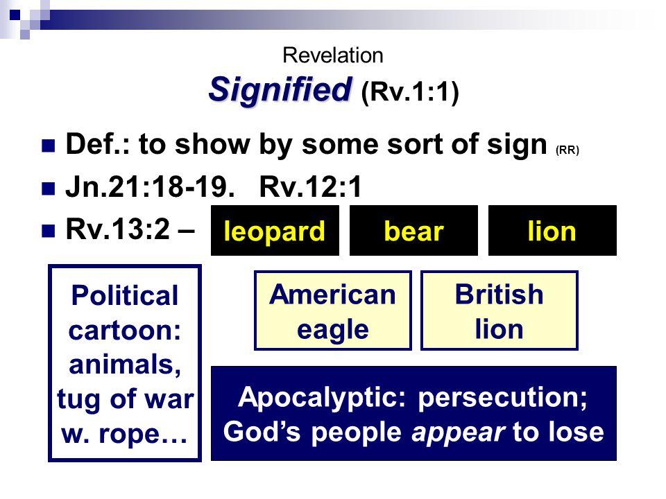 I. Nature Of Revelation II. Armageddon: Revelation 16