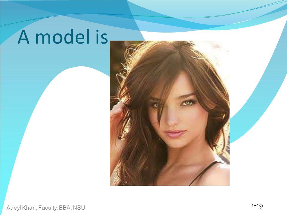 Adeyl Khan, Faculty, BBA, NSU A model is 1-19