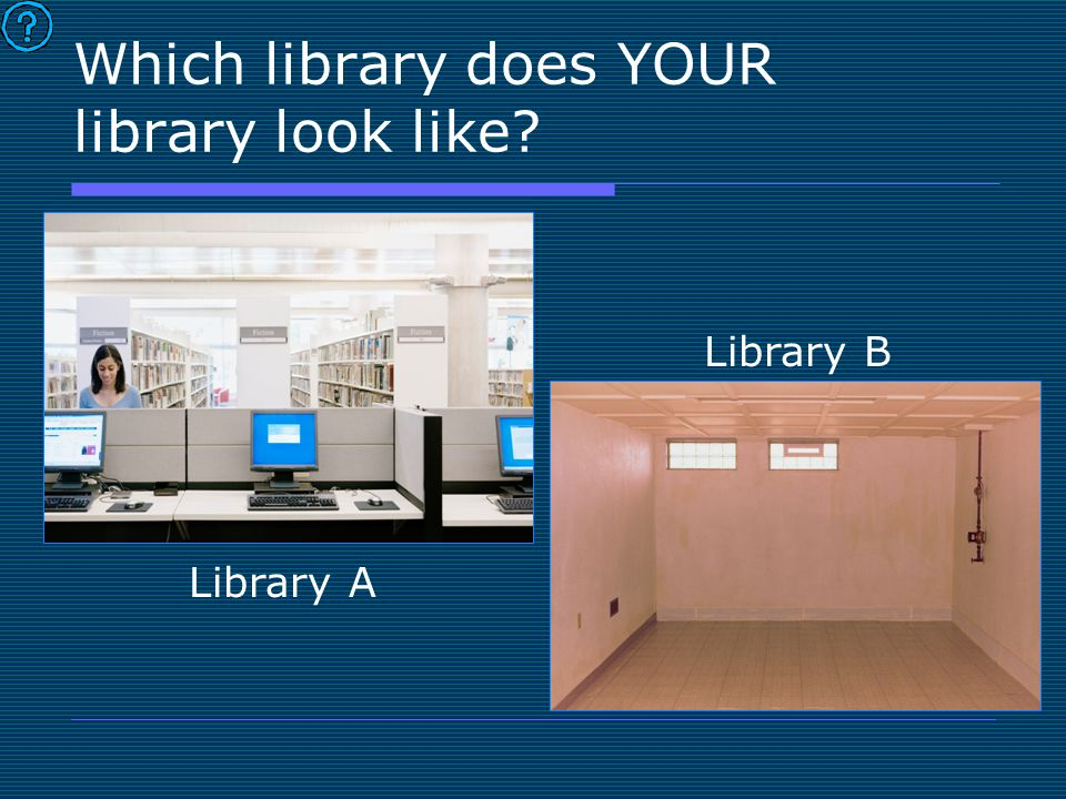 Which library does YOUR library look like Library A Library B