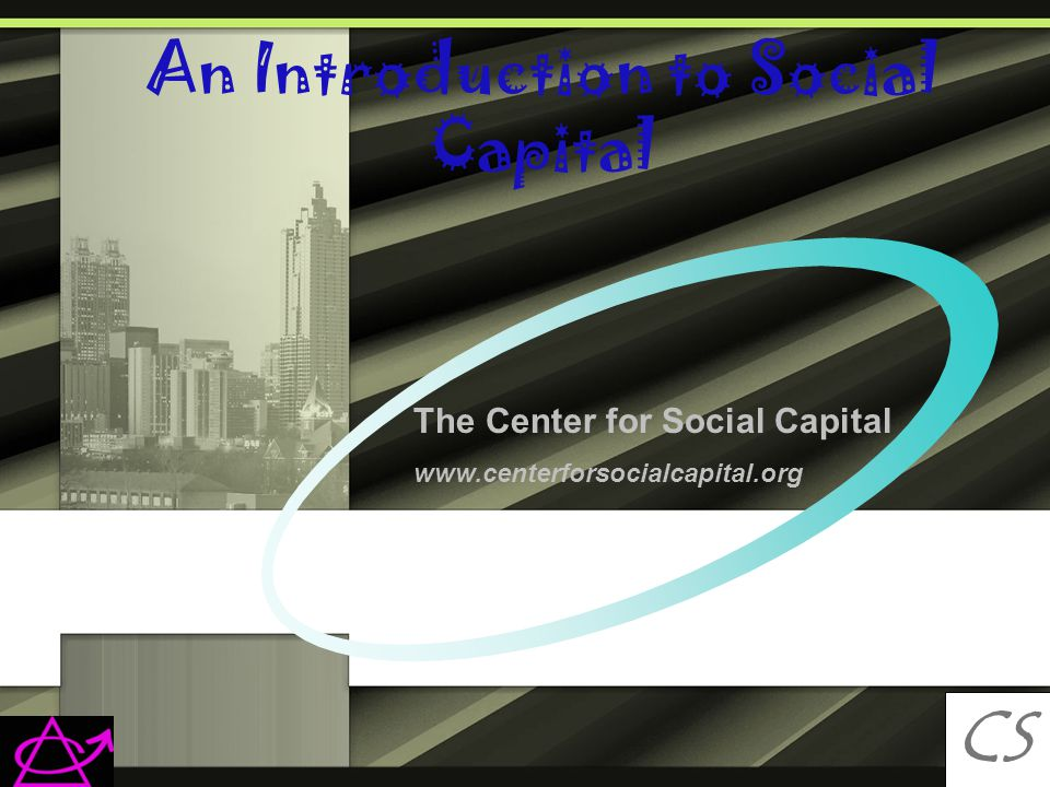 An Introduction to Social Capital CS C The Center for Social Capital www.centerforsocialcapital.org