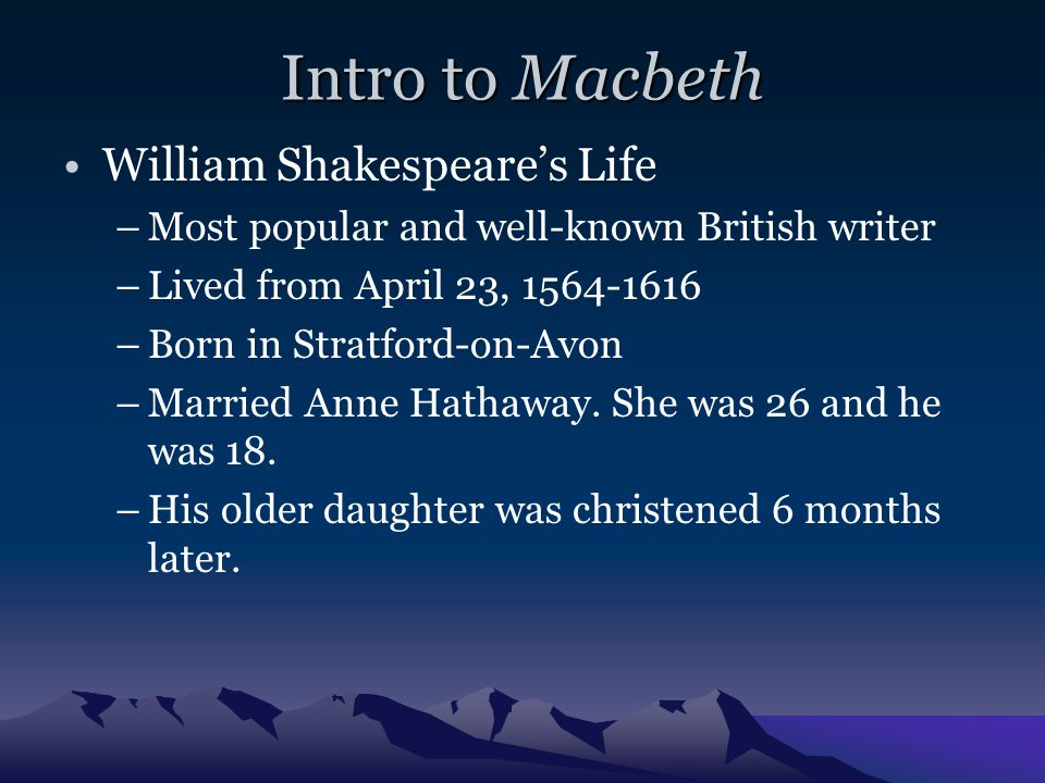 William Shakespeare's The Tragedy of Macbeth
