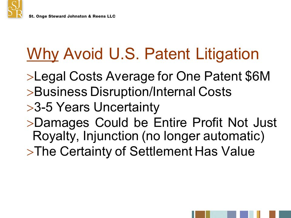 Patent Litigation Trends  Seagate- Objective Recklessness, Piracy  KSR-Nonobviousness  eBay- Right to Enjoin Not Automatic  E-discovery Rules  New Judges Pilot Program  New Patent Statute