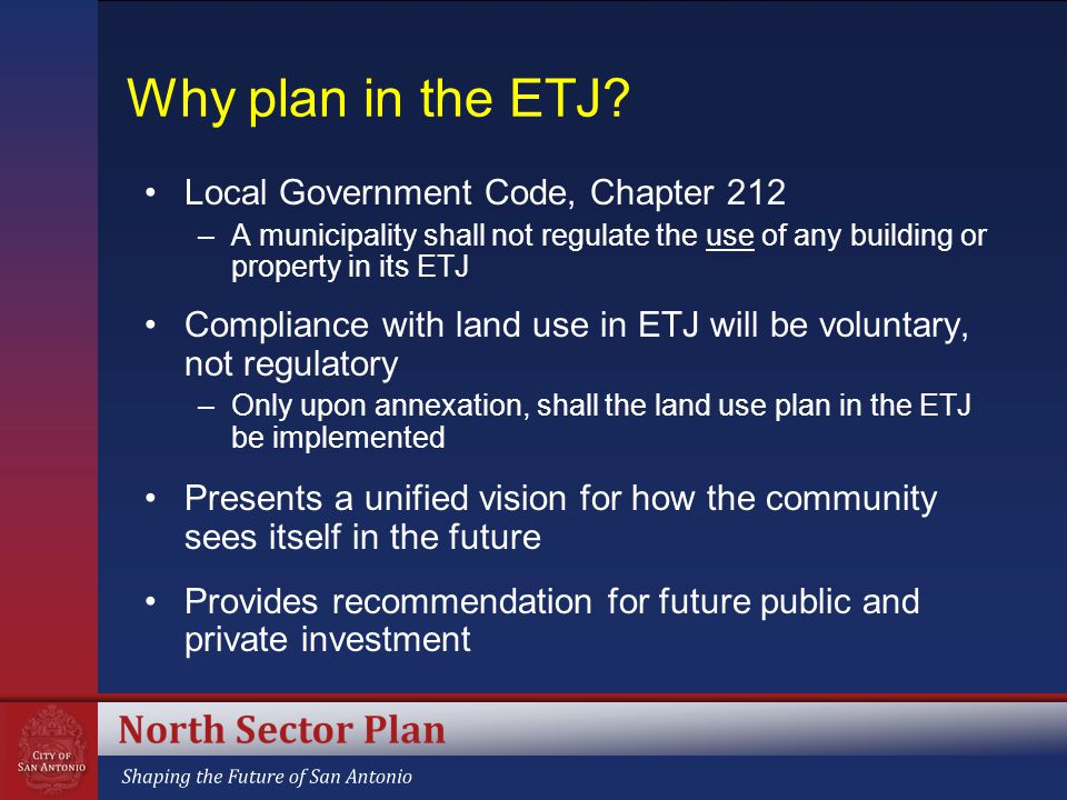 Why plan in the ETJ.