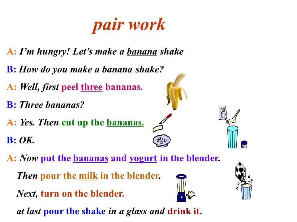 How do you make a banana shake