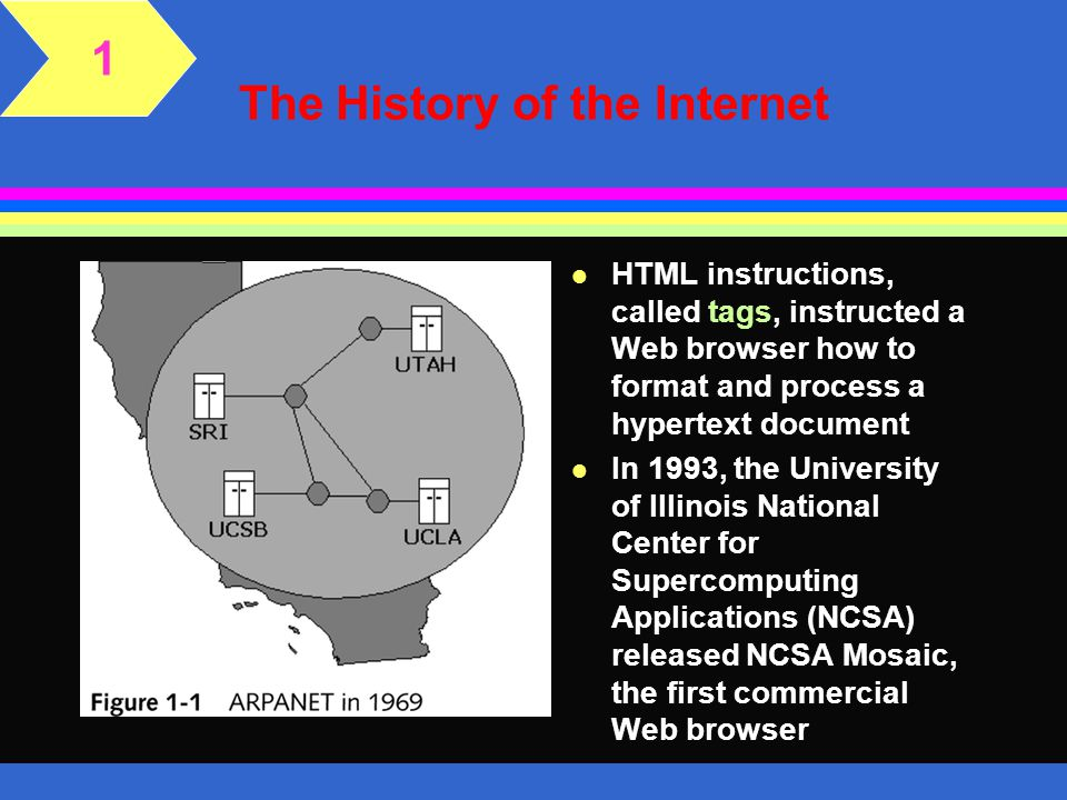 Creating a Web Page l Web pages are created using the HTML language that was established by the HTML protocol l Web pages can be created in a simple text editor program such as Notepad, vi, or BBEdit, or in a Web page editor such as FrontPage or Dreamweaver 1