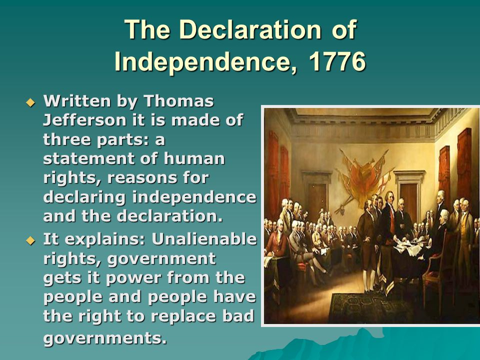 The Articles of Confederation, 1781  Adopted at the 2nd Continental Congress  It was a weak national government because power resided in states  Could not collect taxes, enforce laws, regulate trade or amend the Articles
