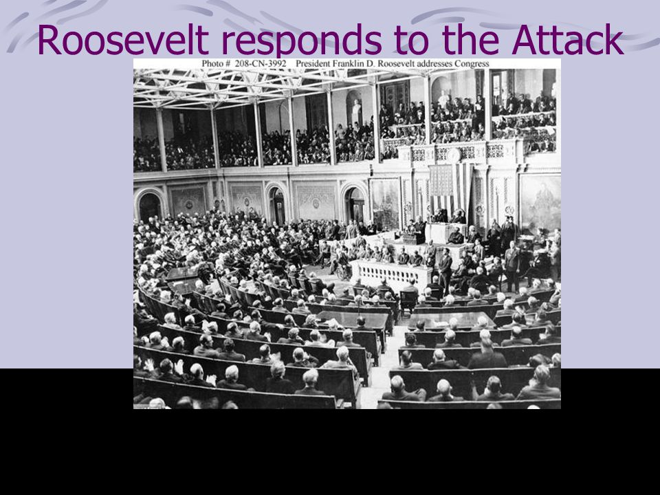 Roosevelt responds to the Attack