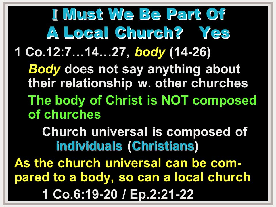 What is Paul saying.Not the body (as if Cor.