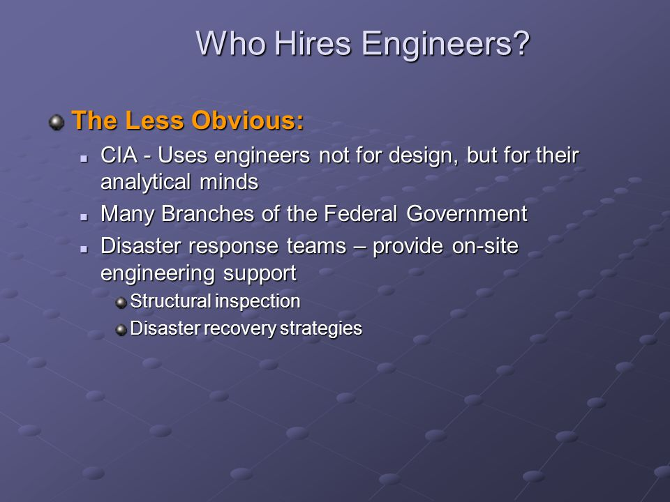 Who Hires Engineers.