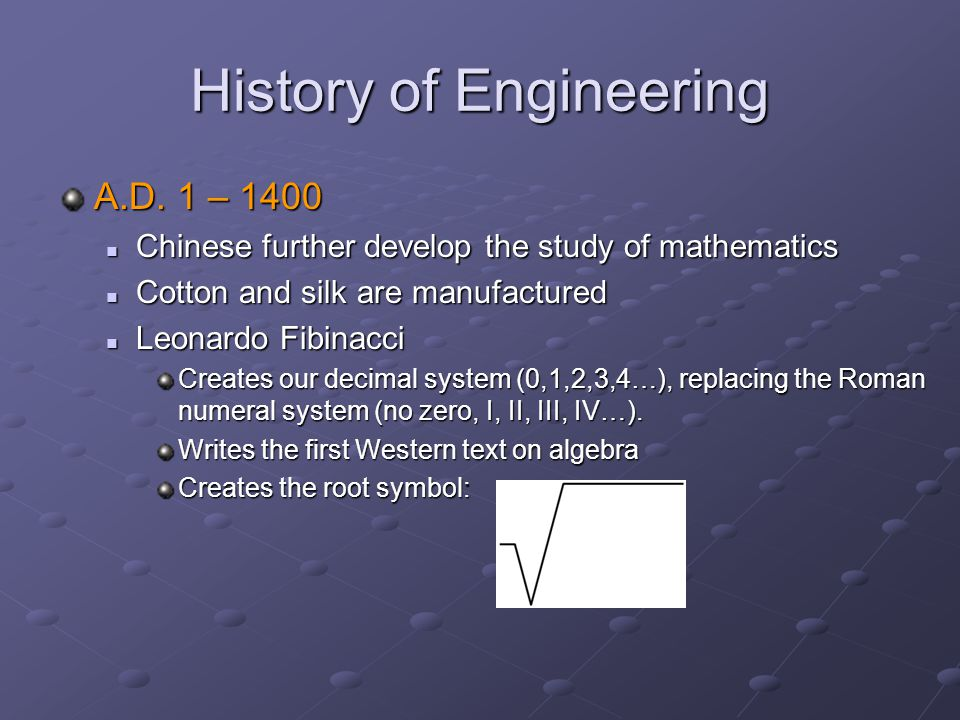 History of Engineering A.D.