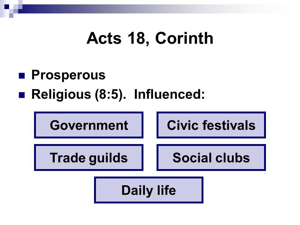 In Corinth… Visiting orators...