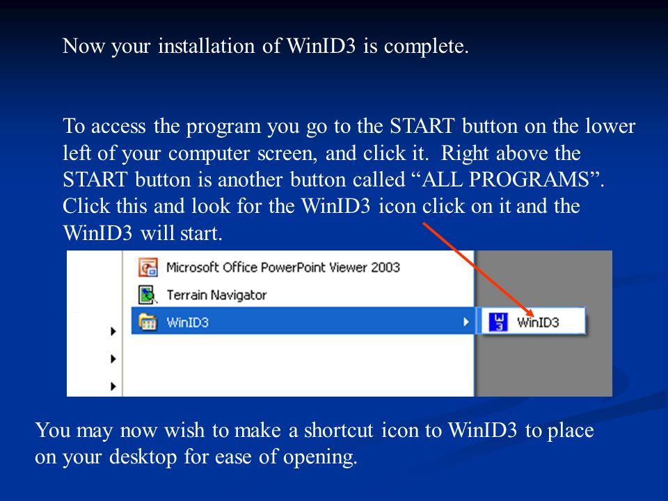 Now your installation of WinID3 is complete.
