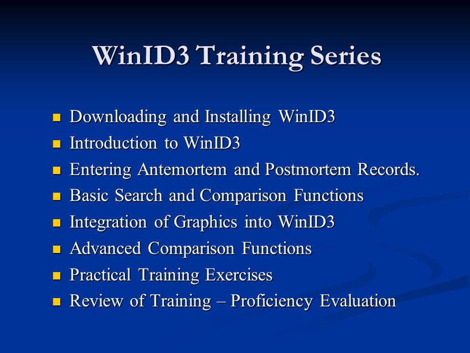 Downloading WinID3 The following series of slides will show how to download WinID3 from the internet.