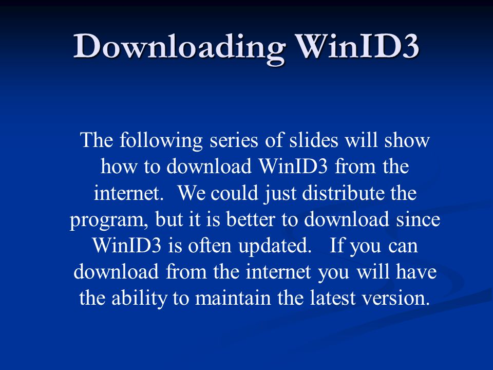 When the download is completed a screen like this will be displayed.