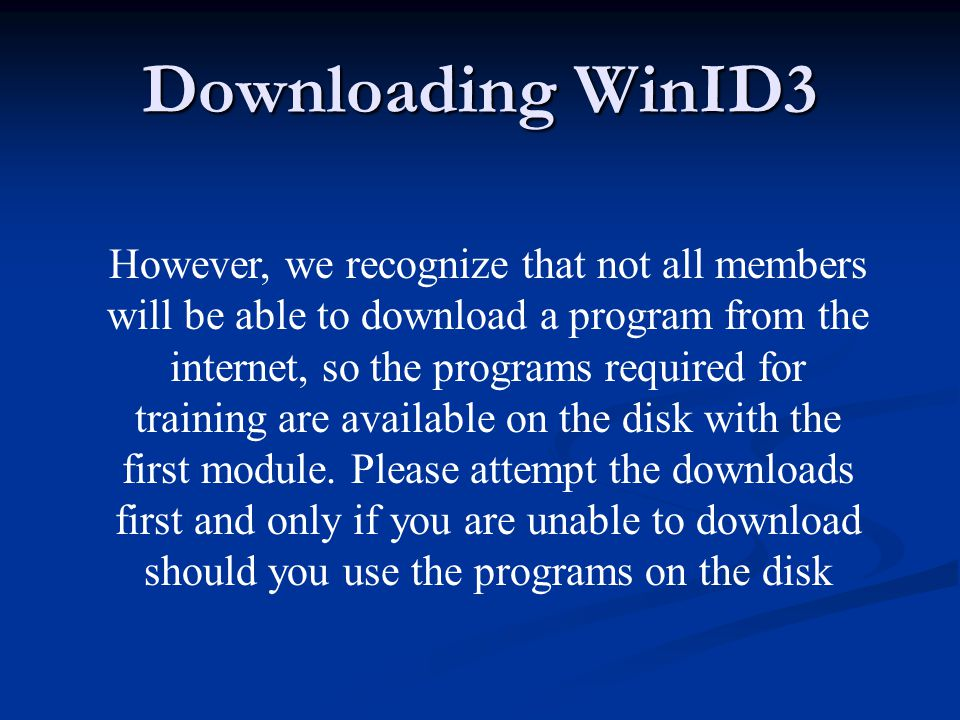 Follow the instructions carefully, you will be downloading into the HOLD Folder you made previously on your C Drive.