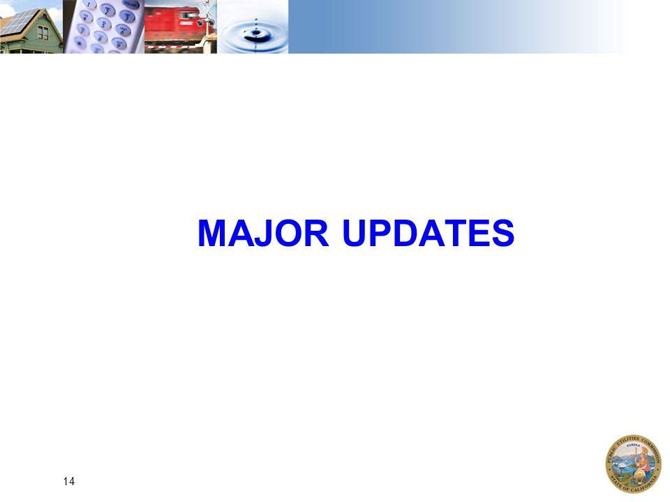 MAJOR UPDATES 14