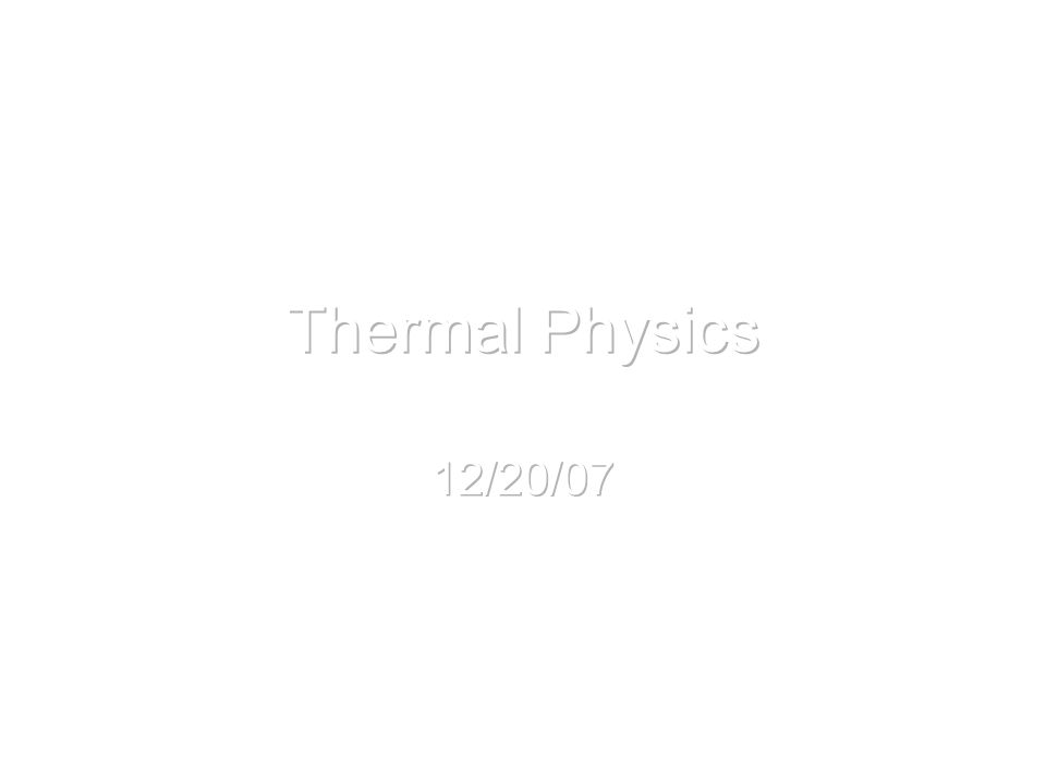 3.1 Conduction Equation Also called heat current Q / t is the energy per unit time, Joules sec -1  – thermal conductivity A – cross sectional areacross sectional area T – temperature x – length of material